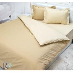 Спално бельо Бежово памучен сатен