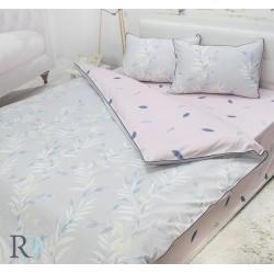 Флорално спално бельо Ilianne памучен сатен