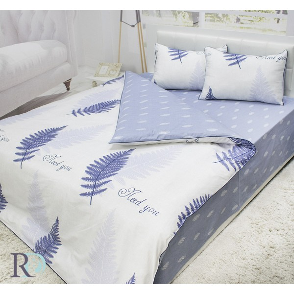 Флорално спално бельо Trayane памучен сатен