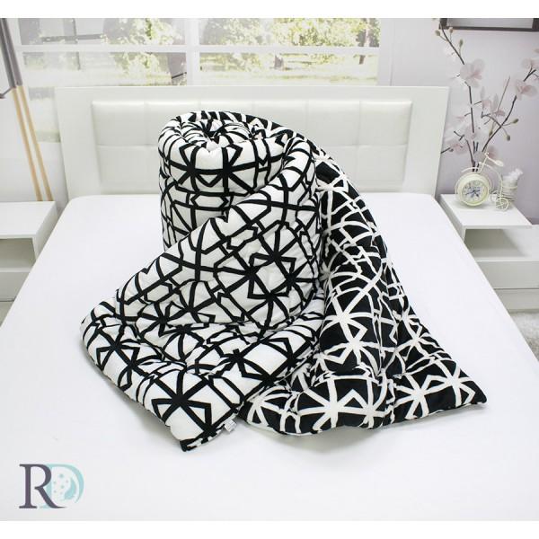 3в1 Одеяло, завивка и шалте Black White
