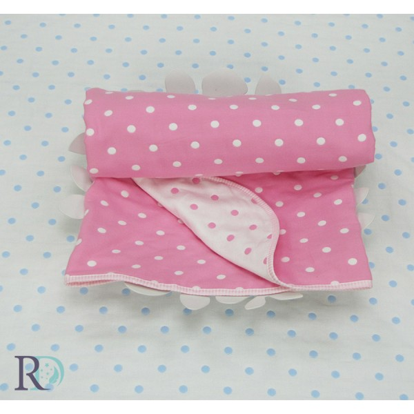 Бебешко одеяло 100% ПАМУК розово