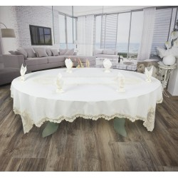 Покривка с дантела комплект Luxury White