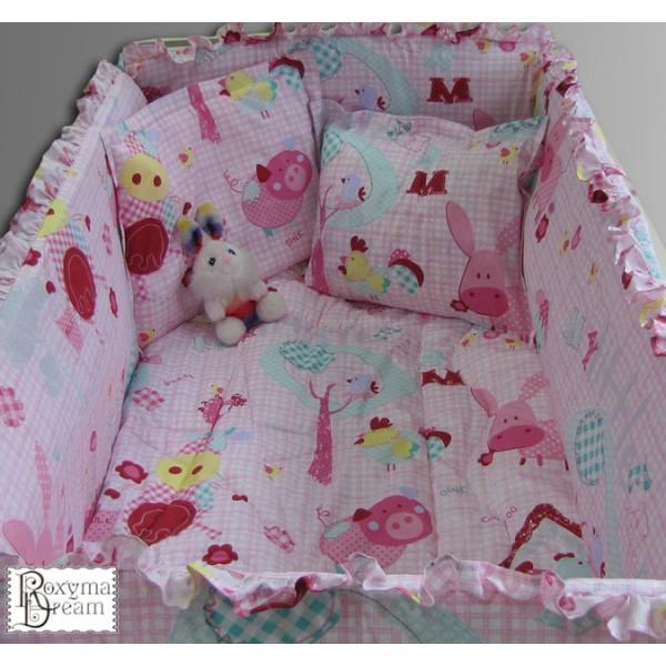 Бебешко спално бельо PINK LOVE 100% памук