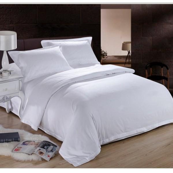 Ранфорс едноцветно бяло спално бельо